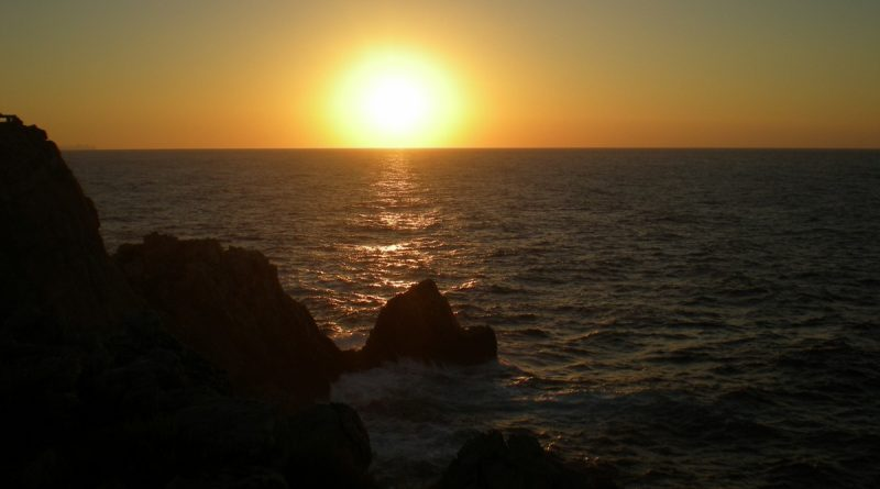 Puesta de sol vista desde Punta Nati.