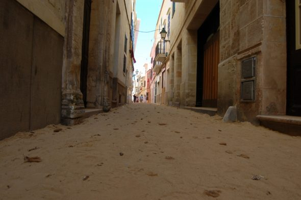 Calles de Ciutadella durante las fiestas de Sant Joan