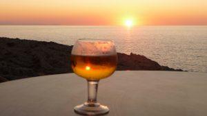 Puesta de Sol en Maxi's bar con vistas a Mallorca