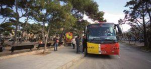 Autobús en la antigua parada de Ciutadella