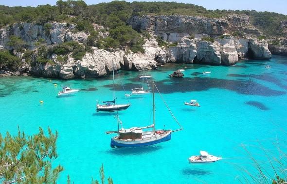 playa costa sur menorca
