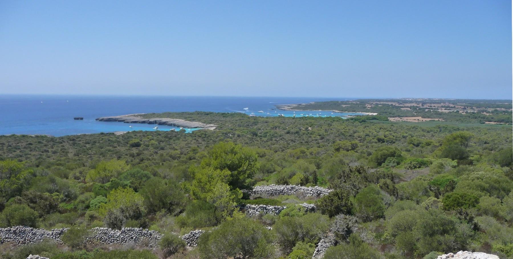 playas virgenes costa sur menorca