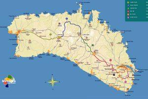 Mapa de rutas de cicloturismo en Menorca