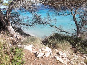 Vista del camino hacia Cala Escorxada