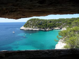 VIsta desde el bunker de los acantilados de Cala Mitjana
