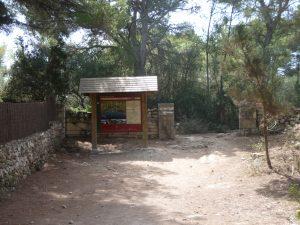 Inicio del recorrido del tramo 14 del Camí de Cavalls - Galdana a Santo Tomás