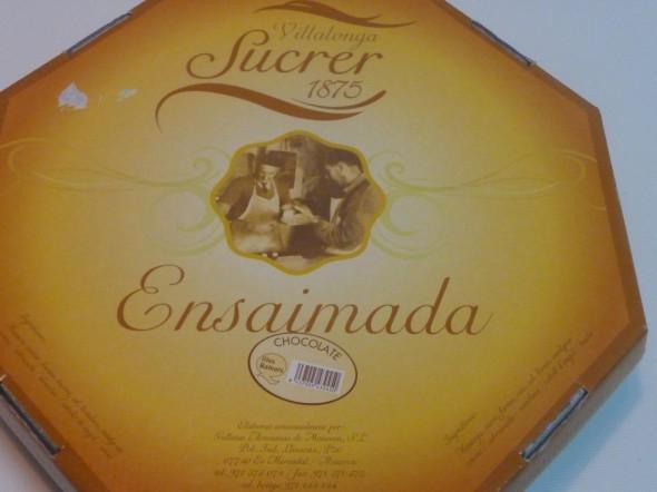 Ensaimada de Menorca de chocolate - P1120933