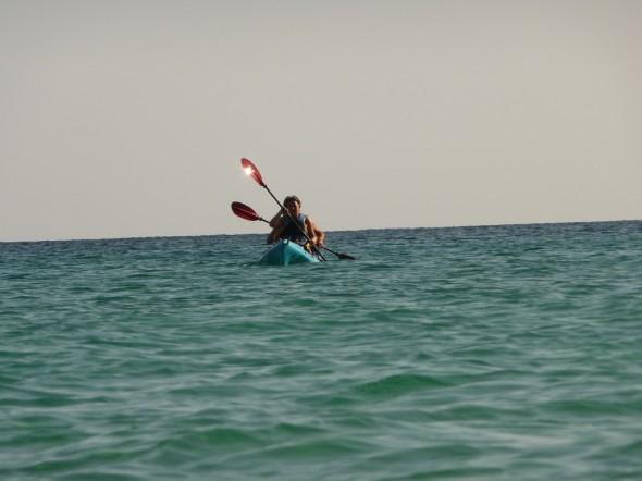 Kayak-Menorca - mar abierto