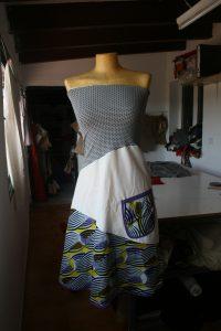 Confección artesanal de los vestidos