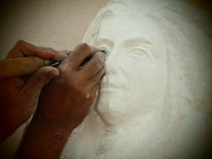 Pasearte - Escultura en marés