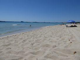Playa de Son Bou con Hotel al Fondo