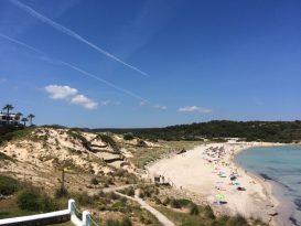 Acceso a la playa de Arenal de Son Saura